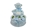 One Tier Blue Cupcake Nappy Cake