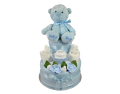 Two Tier | Blue Cupcake Nappy Cake