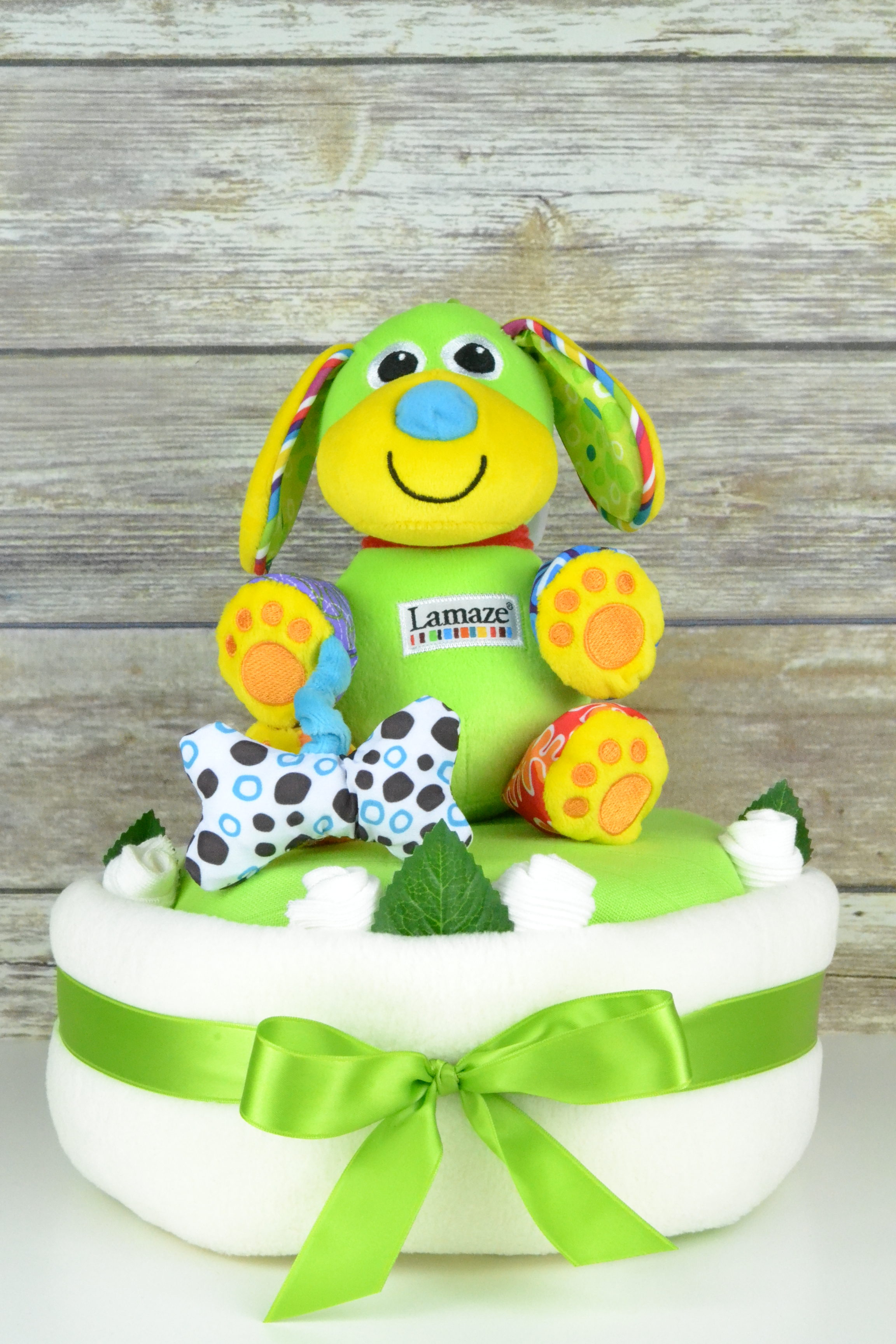 Cream Lamaze Pupsqueak Nappy Cake