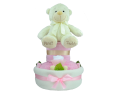 Two Tier 'My First Teddy' Nappy Cake - Pink