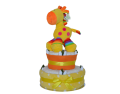 Two Tier Yellow Funky Nappy Cake