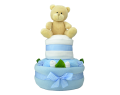Blue Rose Bud Nappy Cake