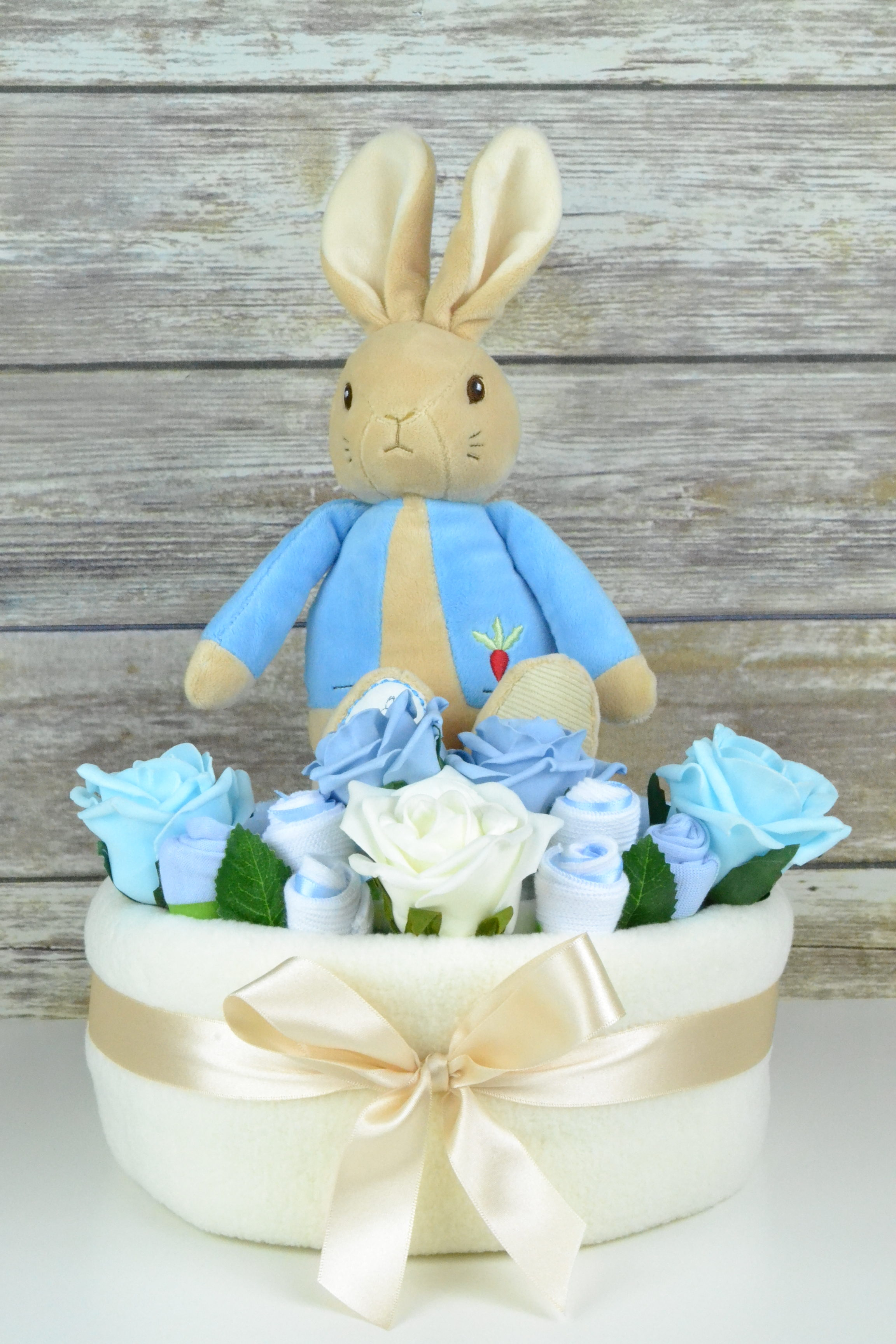 One Tier Peter Rabbit Nappy Cake