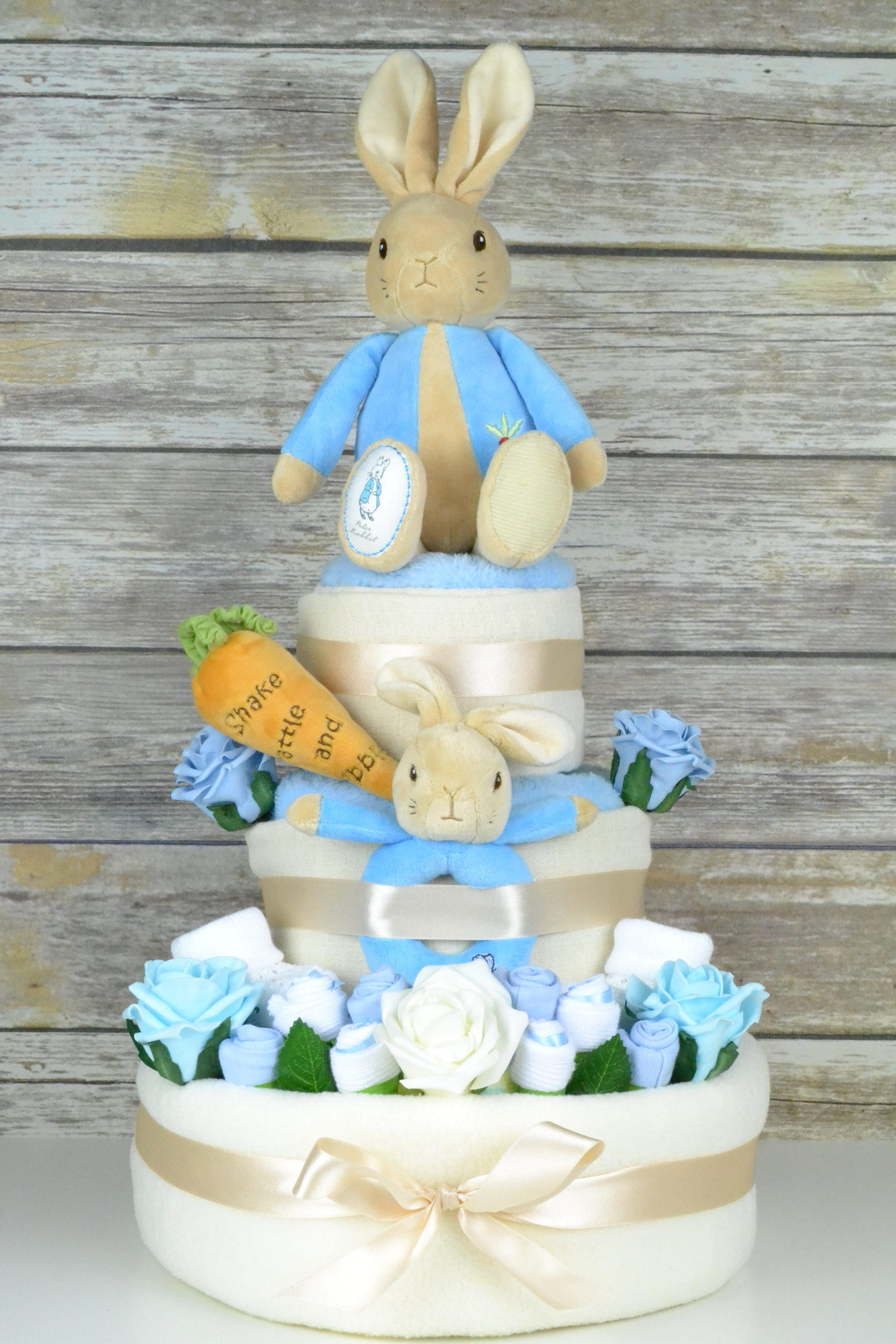 3 Tier Peter Rabbit Nappy Cake