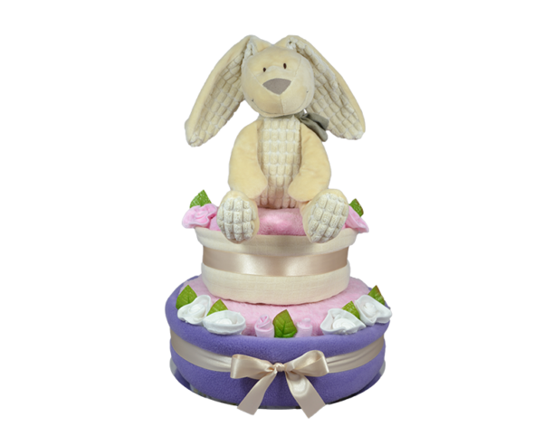 Lilac Willow 2 Tier Nappy Cake