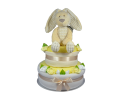 Two Tier Willow Bunny Nappy Cake - Cream