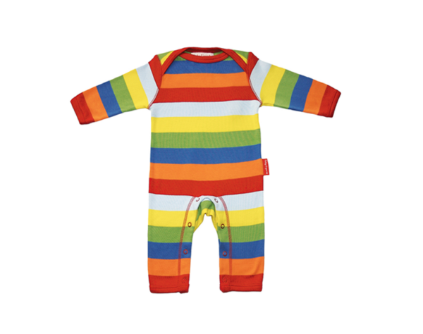Toby Tiger - Organic Cotton Multistripe Sleepsuit