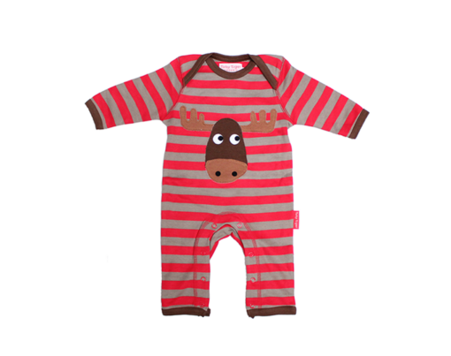 Toby Tiger Moose Sleepsuit
