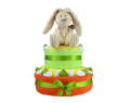 Orange Willow Bunny Nappy Cake
