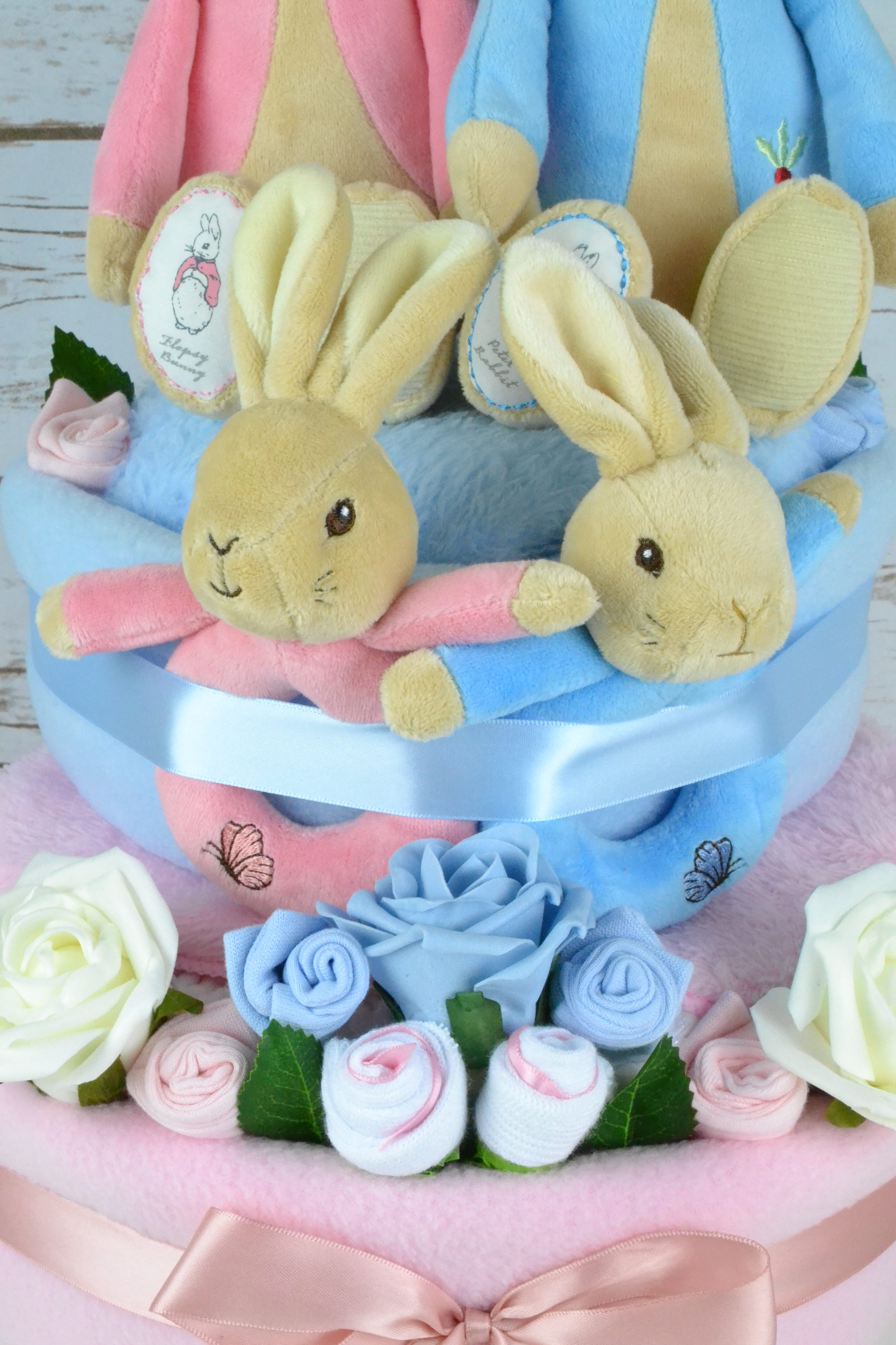 Peter Rabbit & Flopsy Bunny Nappy Cake