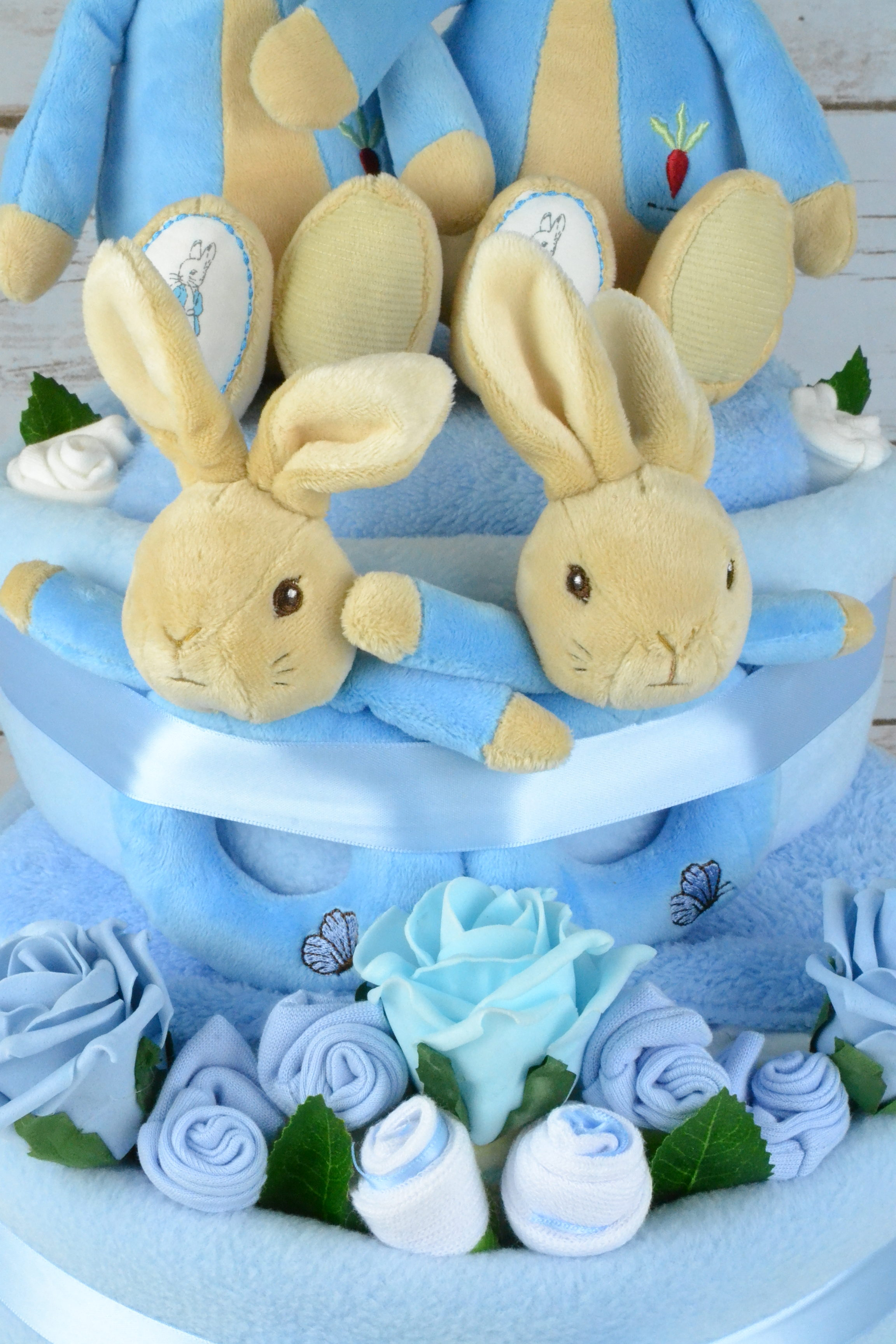 Peter Rabbit Twin Nappy Cake