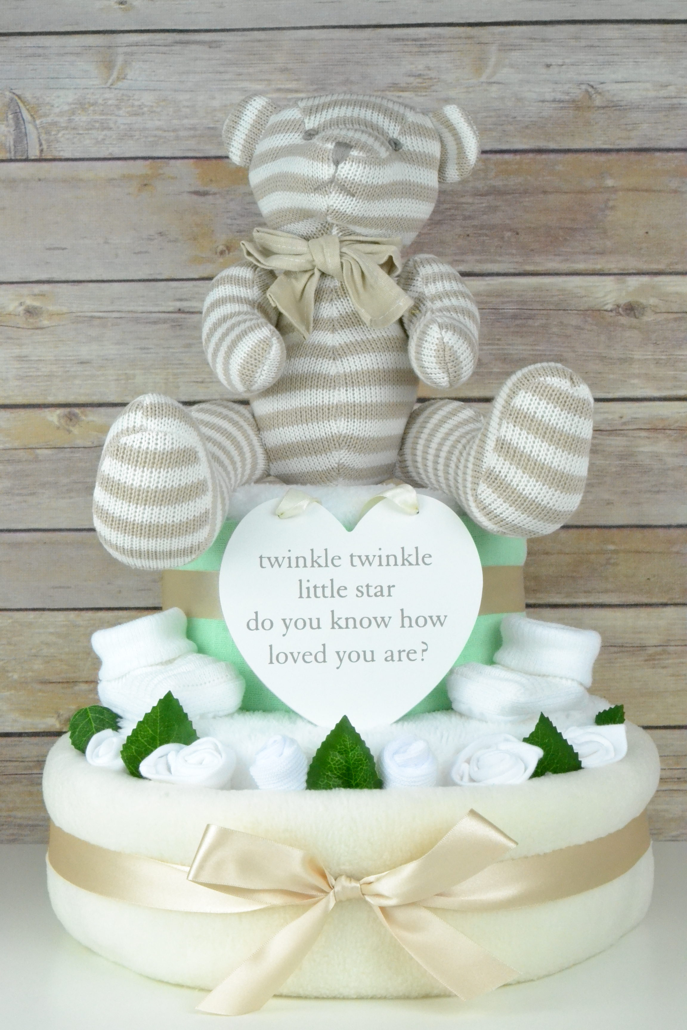 Luxury Twinkle Plaque Nappy Cake