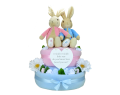 Twin Flopsy and Peter Rabbit Nappy Cake