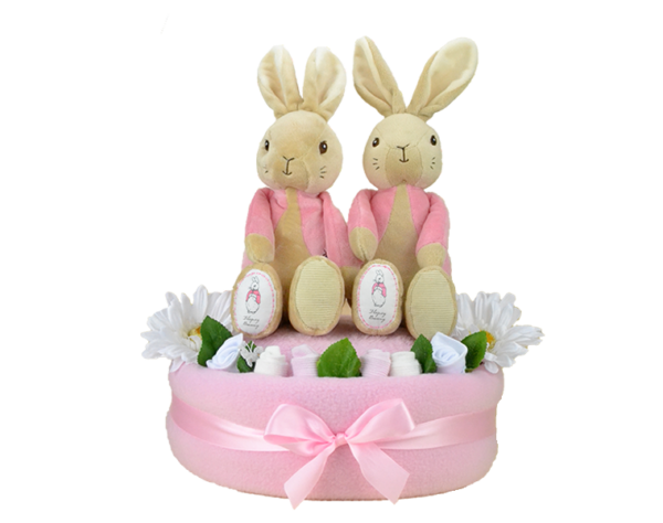 Twin Flopsy One Tier Nappy Cake