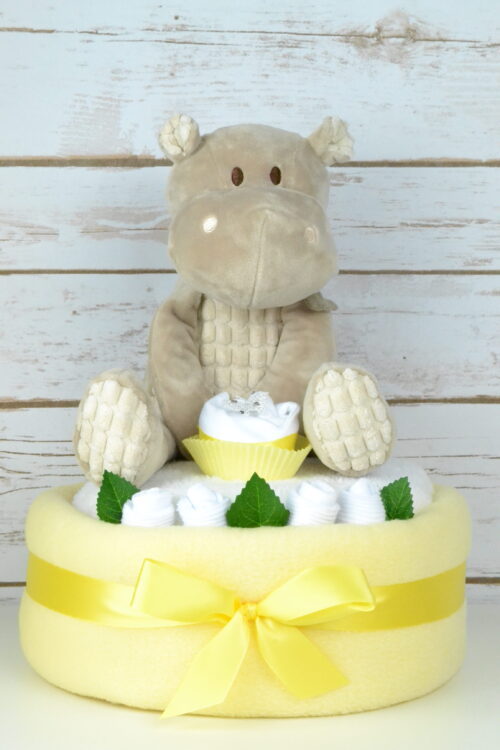 One Tier Hetty Yellow Nappy Cake