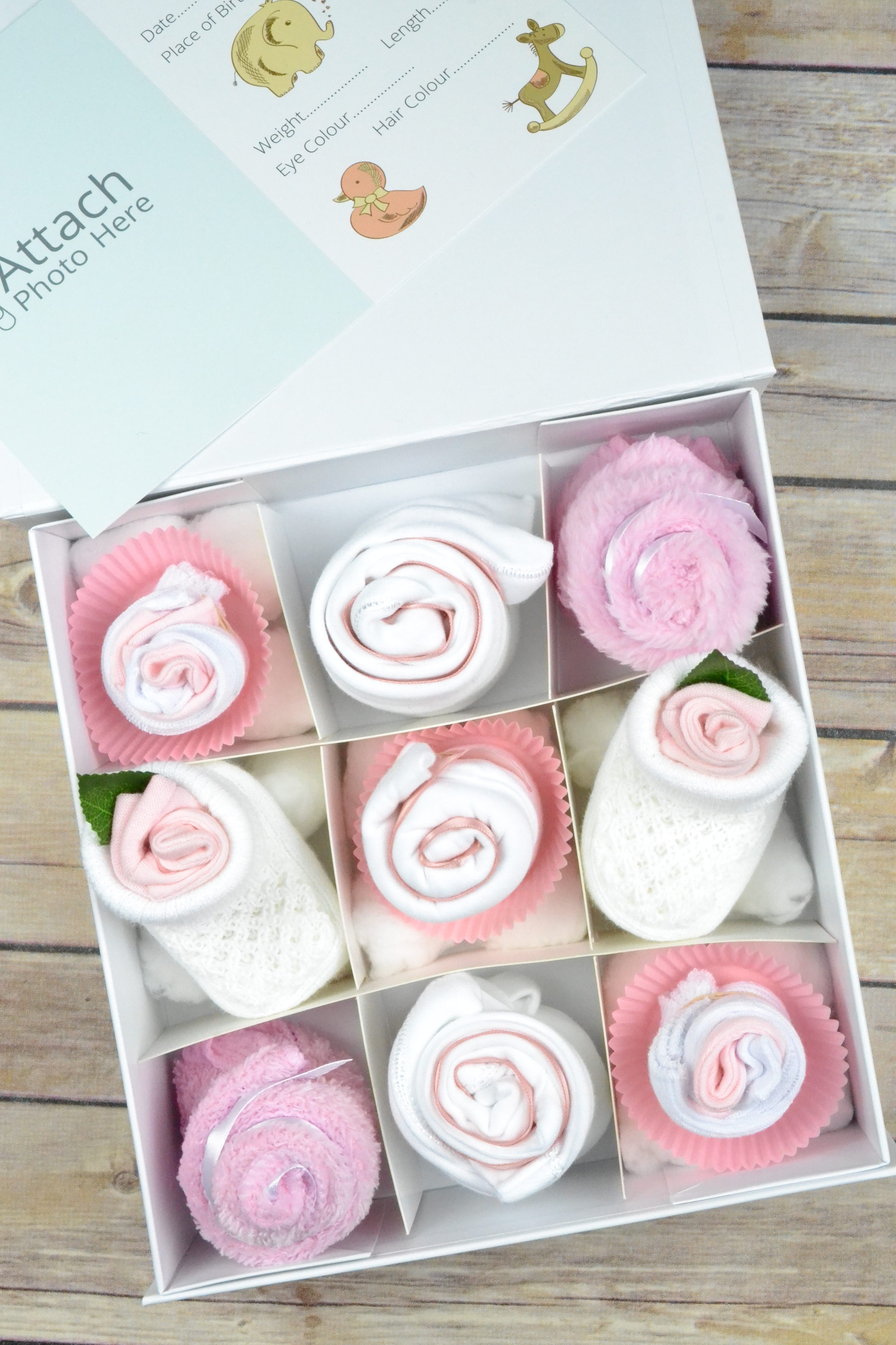 Baby Clothing Cupcake Gift Box