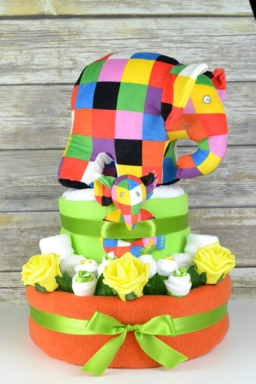 Orange Elmer Nappy Cake
