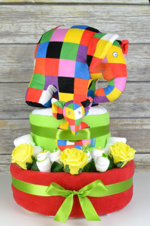 Luxury Red Elmer Nappy Cake