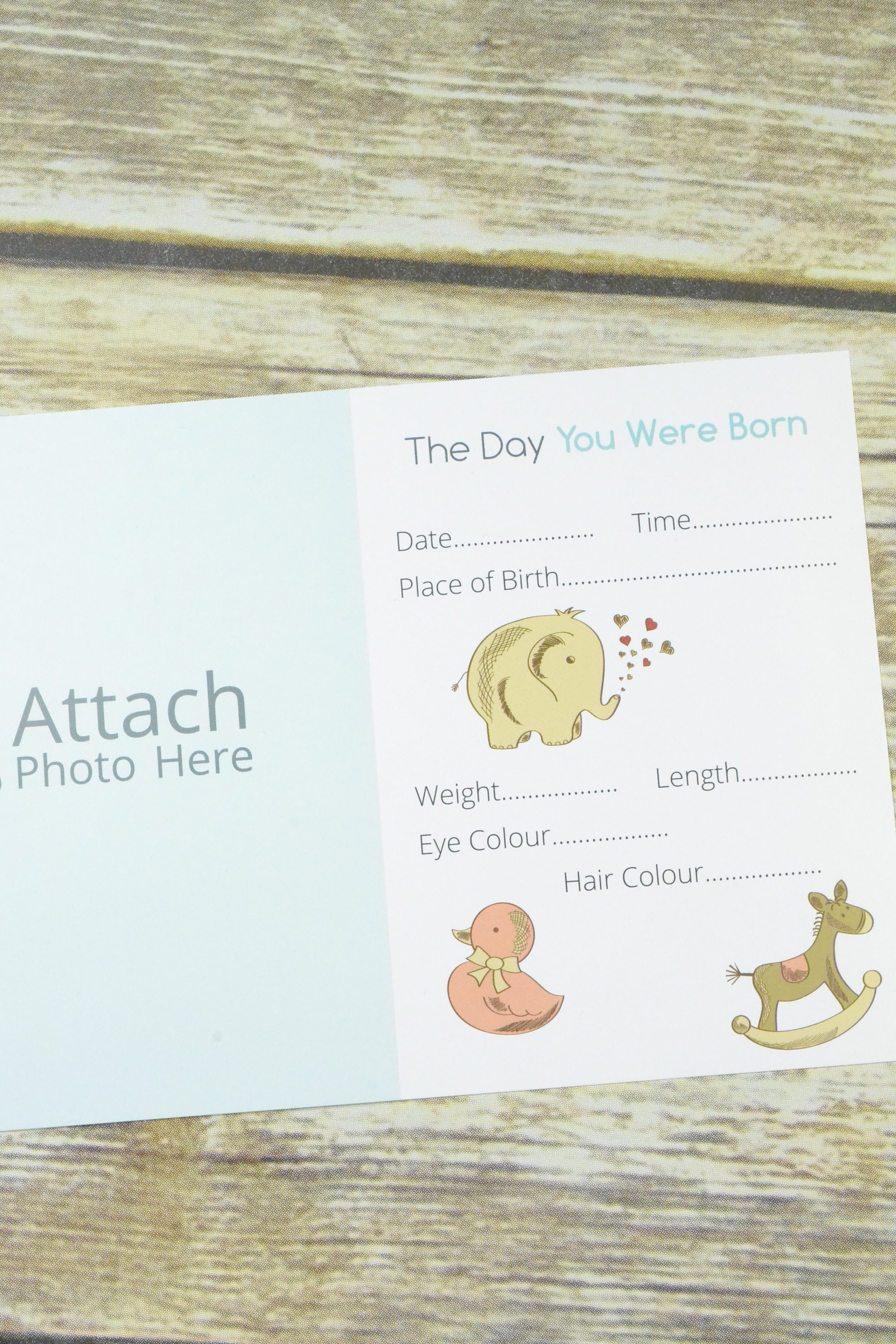 Baby Keepsake Card