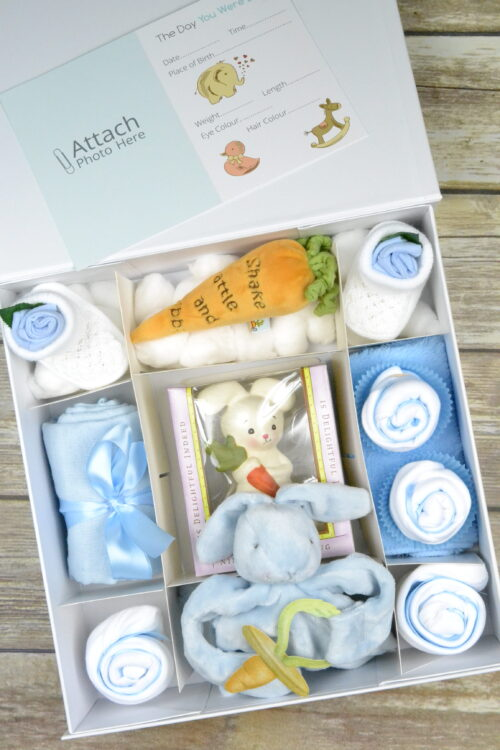 Blue Bunnies By The Bay Cupcake Gift Box