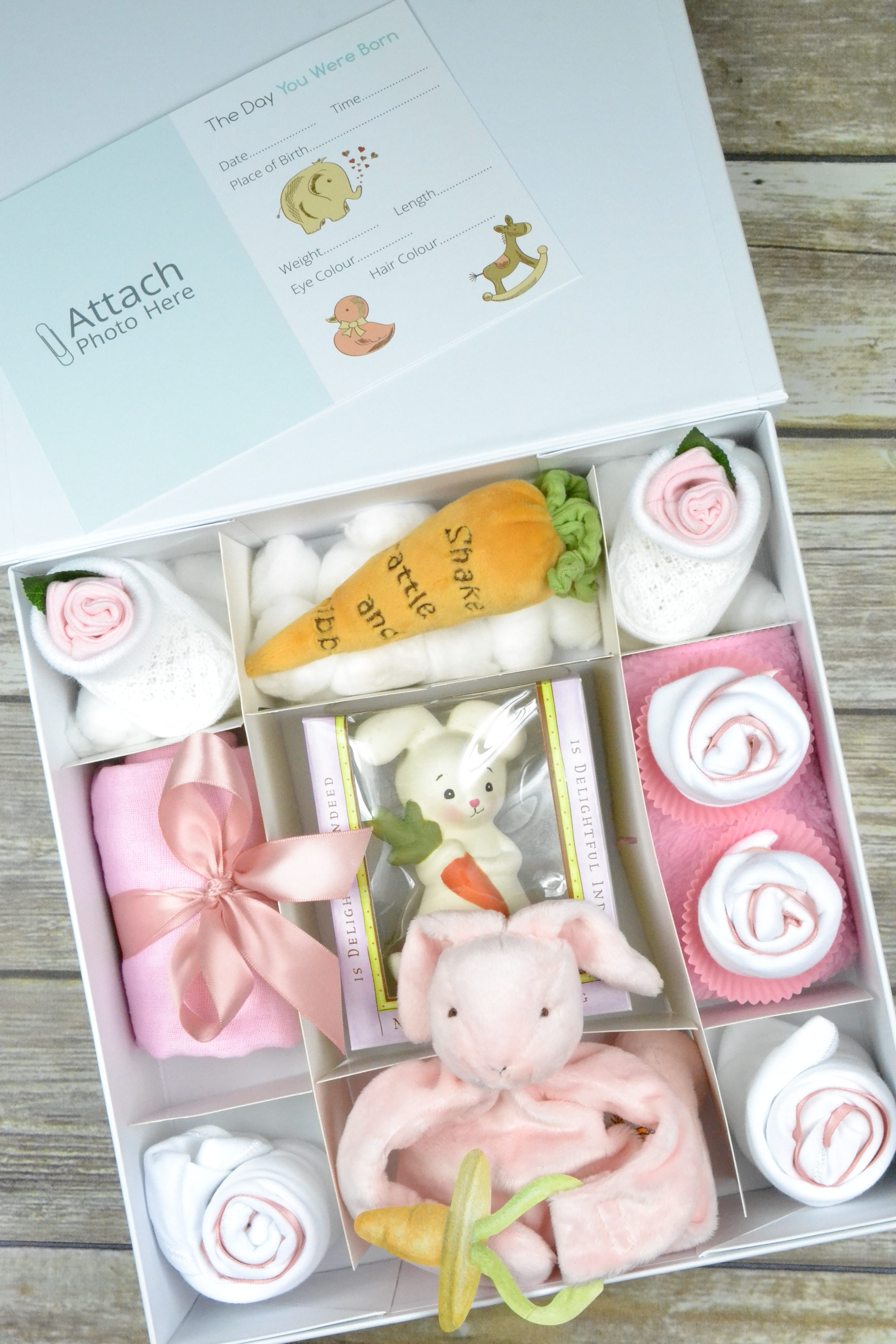Pink Bunnies By The Bay Cupcake Gift Box